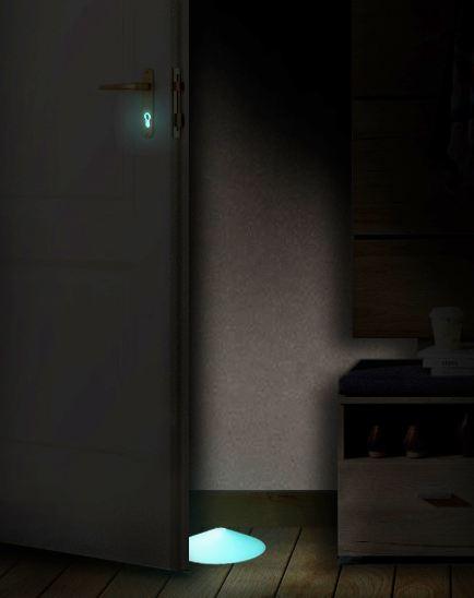 Nightlux, Südmetall, PZ-Caps, leuchtend, Türstopper