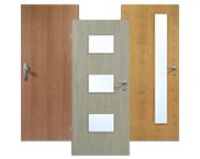 HPL Türen in Längsoptik