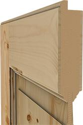 Innenleben einer eleganten Holztür