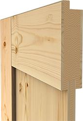 Innenleben einer modernen Holztür
