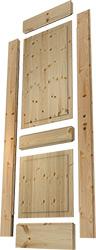 Darstellung der Einzelteile einer Massivholztür Elegant