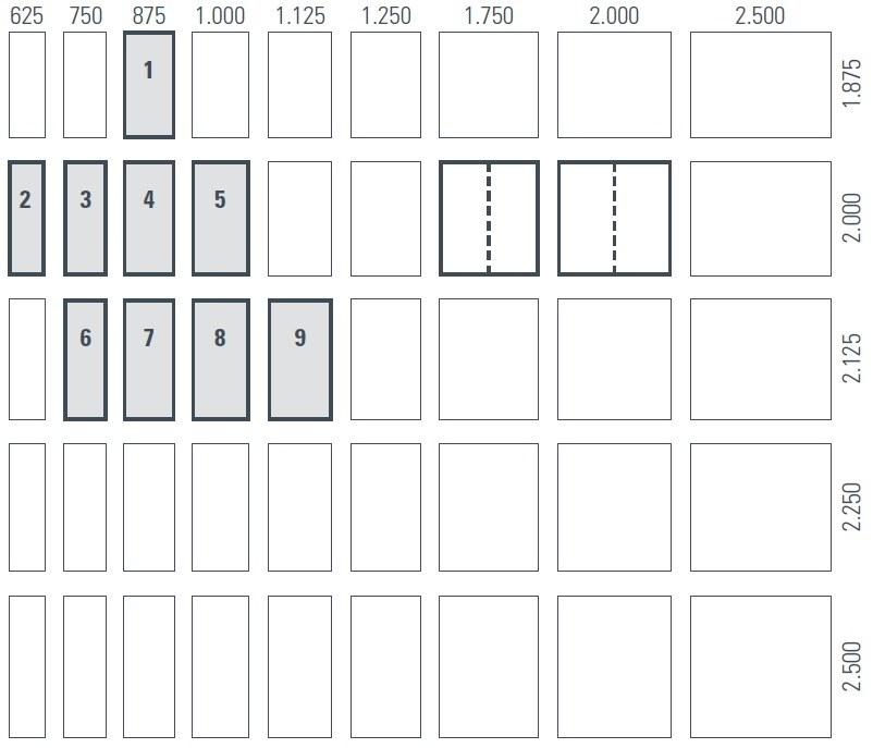 Zimmertür Masse Standard DIN 4172 18101 Ueberblick