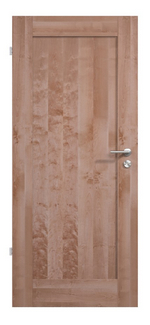 Moderne Massivholztür, Birke, lackiert, Holzfüllung, Premium, hochwertig