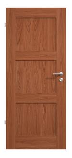 Landhaustür, Elegante Massivholztür, Holztüren, Eiche, lackiert, vier Füllungen
