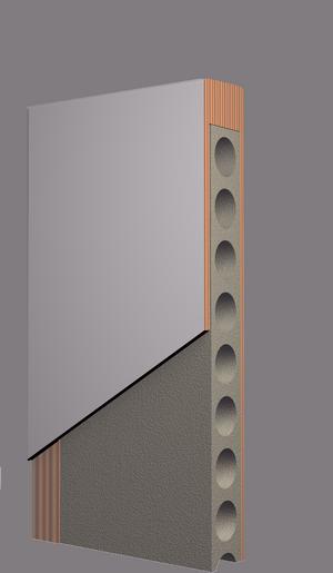 Schiebetür, Röhrenspanplatte