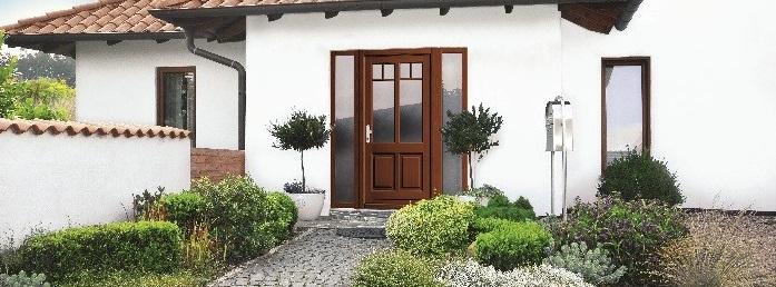 Klassische Holz Haustür