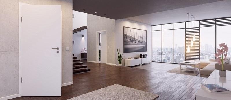 Weißlack Innentüren in moderner Wohnung