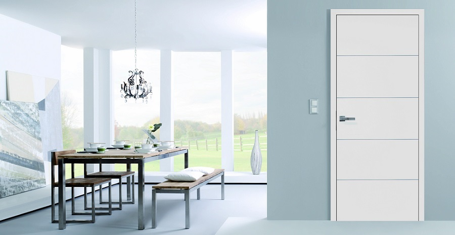 Lisenen weiße Zimmertür