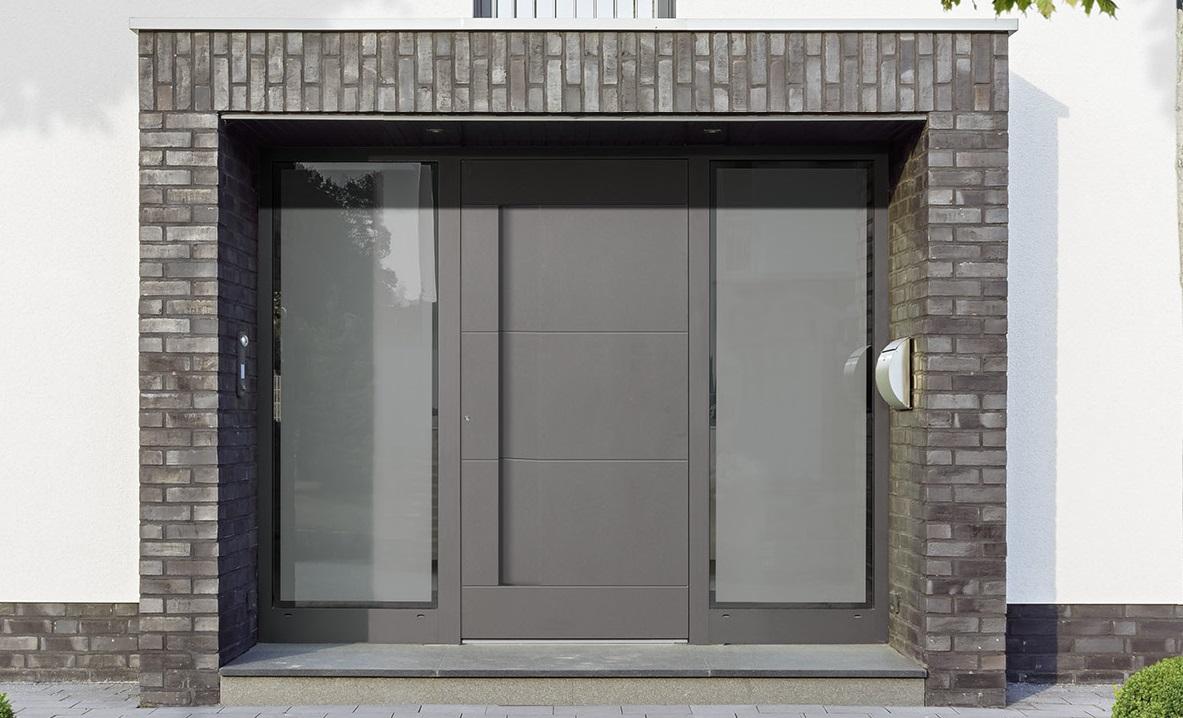 Aluminium-Holz-Haustüren online kaufen