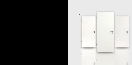 Glatte weiße Tür ohne Grafik