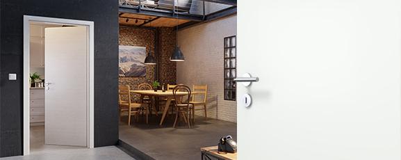 Innentürset, Sparset, Tür inkl. Zarge und Drücker, Komplettset, günstig, weiße Innentüren