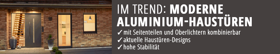 Haustür, Aluminium, Alu, modern, Design, günstig, online kaufen