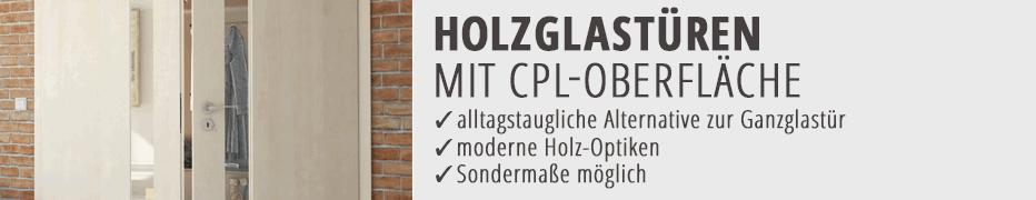 Holzglas-Innentür, Zimmertür, CPL, Holzoptik, günstig, online kaufen