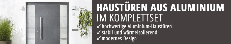 Komplettset, Aluminium-Haustüren, im Set, mit Rahmen, günstig, online kaufen