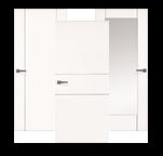 Drei weiße Design-Innentüren der Serie Venetia