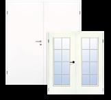 Glatte, weiße Doppelflügeltüren