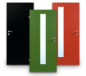 HPL Türen in Unifarben