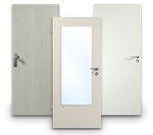 Weiße HPL Türen