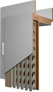 Röhrenspansteg im Inneren der Tür