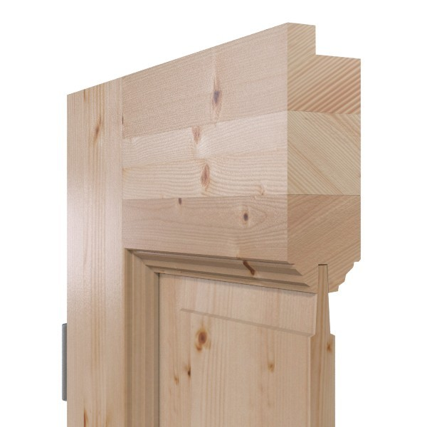 Massivholz Aufbau mit Stabverleimung