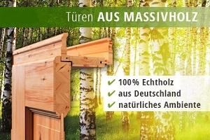Aufbau von Massivholztüren